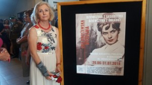Beata i plakat wystawy