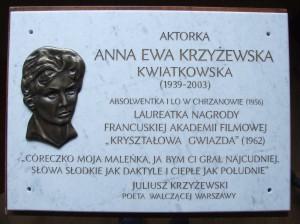 Plyta_pamiatkowa_EA_Krzyzewska-Kwiatkowska